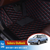 Car Floor Mats For Subaru Outback 2010 2011 2012 2013 2014 Rugs Auto Leather Cover Car Styling Interior Leather Accessories|Floor Mats|   -