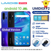 "In Voorraad Umidigi F2 Android 10 Global Versie 6.53 ""Fhd + 6 Gb 128 Gb 48MP Ai Quad Camera 32MP Selfie Helio P70 Mobiel 5150 Mah Nfc(China)"