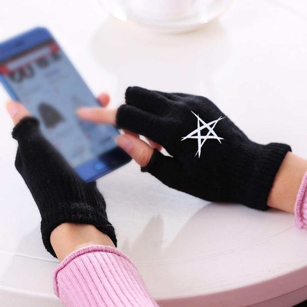 Gloves Women Solid Fingerless Fleece Winter Warm Mittens For Autumn Ladies Female Gloves Mittens Handschoenen  J3