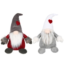 Swedish Christmas KID TOY Santa Claus Tomte Standing Long Hat Gnome Plush Doll Handmade Home Decor Collectible Dolls Ornament