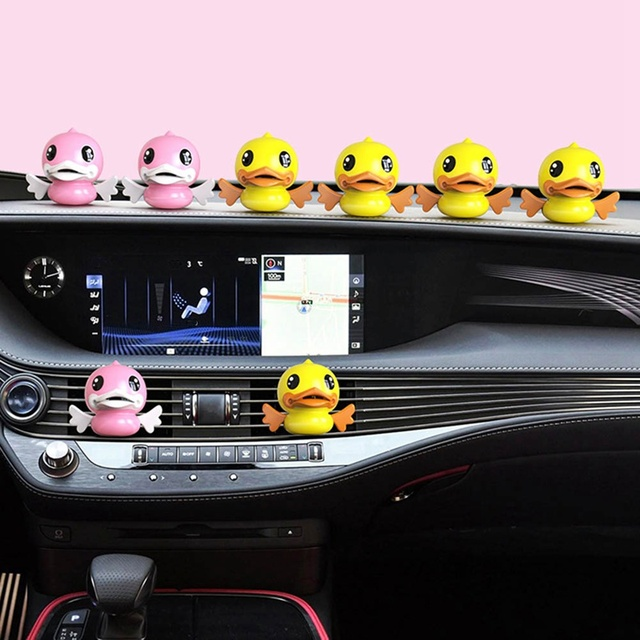 Small Duck Car Outlet Perfume Clip Cartoon Cute Display Creative Car Aromatherapy Seat Type Lasting Perfume Cream