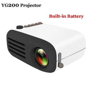 YG300 YG320 Upgrade YG200 Mini kieszonkowe z podświetleniem LED projektor domowy Beamer dzieci prezent USB HDMI wideo przenośny projektor opcjonalna bateria tanie i dobre opinie Unic Instrukcja Korekta Projektor cyfrowy Ue wtyczka Us wtyczka Au plug Wtyczka uk 4 3 16 9 10 -24W 30 Ansi Lumen System multimedialny