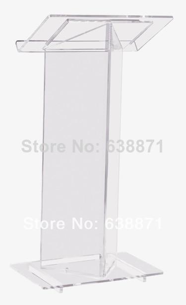 Free Shiping Luxury Acrylic Lectern, Perspex Podium, Plexiglass Church Pulpit