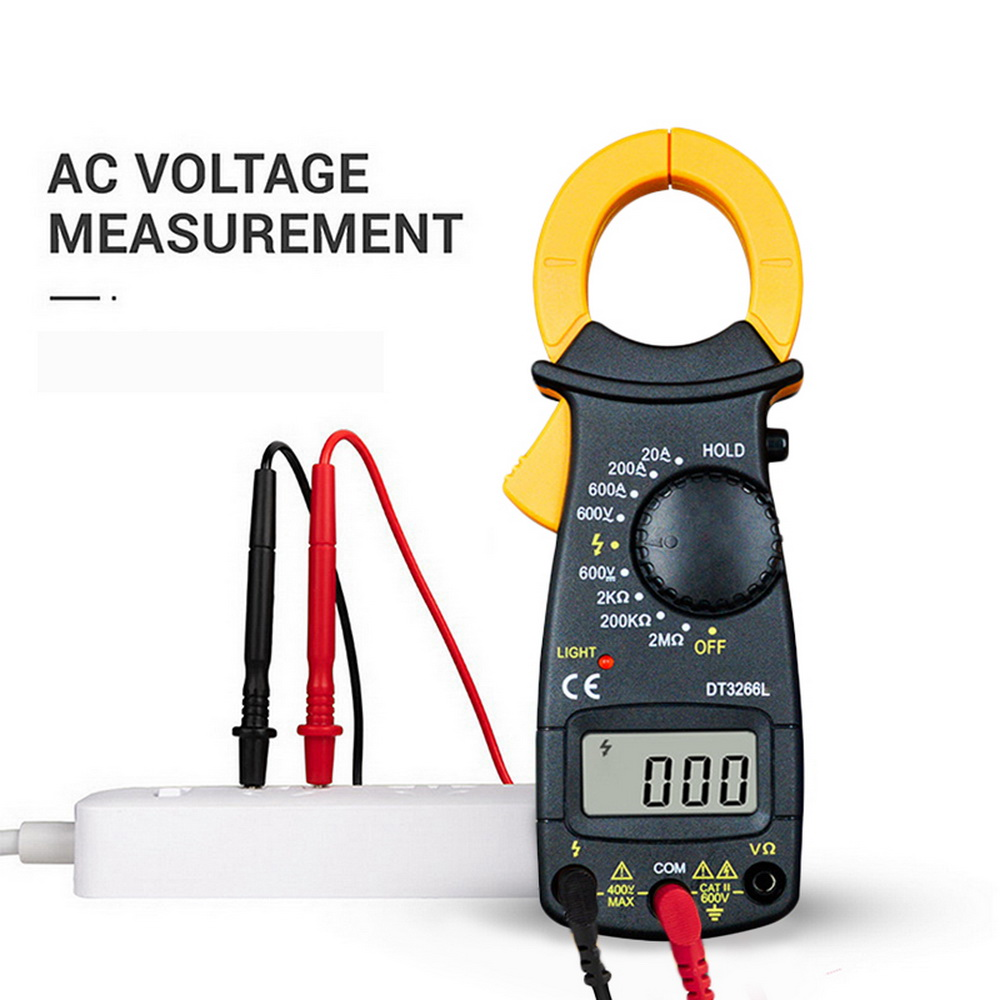 Digital Amper Clamp Meter Multimeter Current Clamp Pincers Voltmeter Ammeter Ohm Current Voltage Tester Electrical Tester Hot