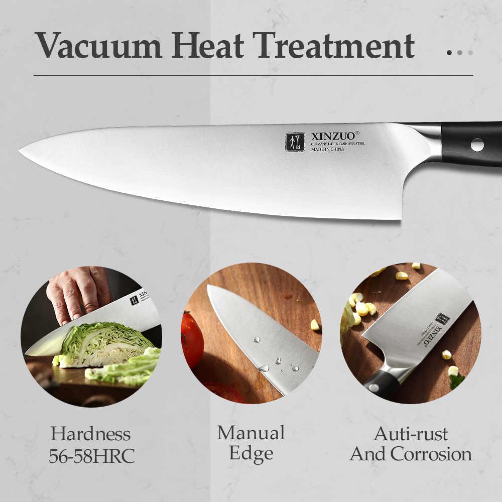 XINZUO 8.5 ''אינץ שף סכין גרמנית 1.4116 נירוסטה מטבח סכיני חדש הגעה בישול אבזר כלים עם אבוני ידית