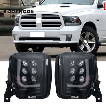 1 Pair  HB4 Smoked Lens Car Front Bumper Fog Halogen Lights with Bulbs for Dodge RAM 1500 2013 - 2018