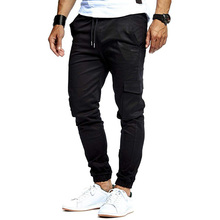 2019 Mens Jogger Solid Pants Sweatpants Fashion Trend Brand Tooling Pocket New Casual