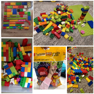 Image 5 - 72 260PCS Big Building Blocks 100% High quality Compatible Duploed Bulk Bricks DIY Figurine Accessories Baby Toys for Children