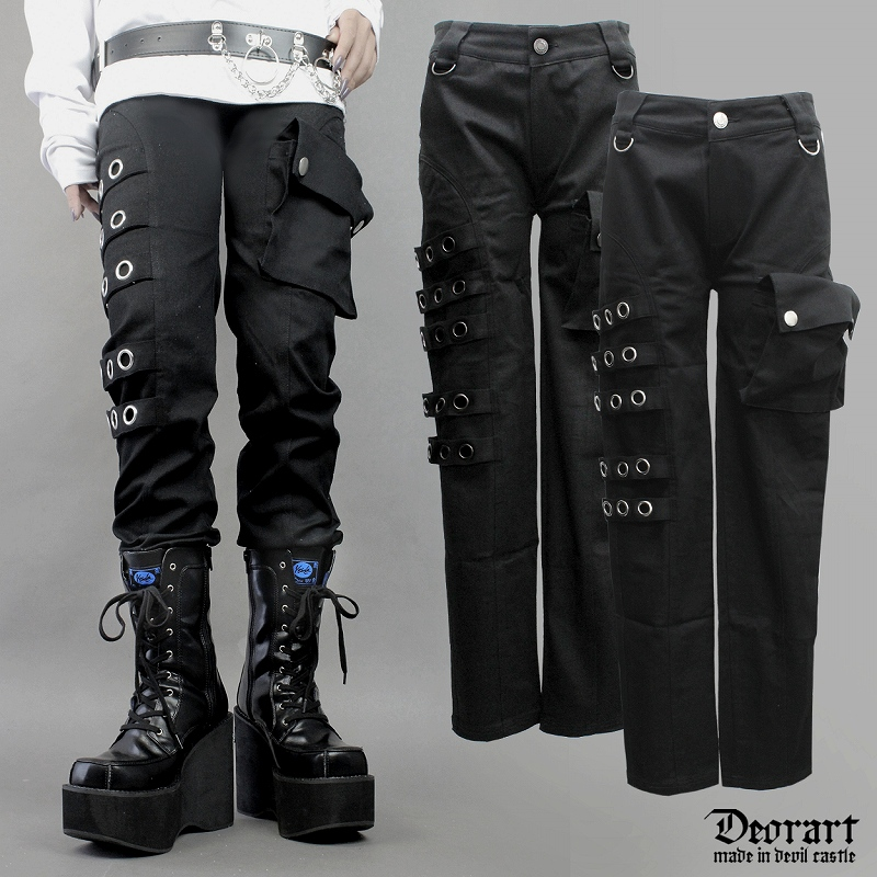 2020 Spring New Japanese Punk Motorcycle Trousers Asymmetric Personality Men And Women Trousers  Singer Pants