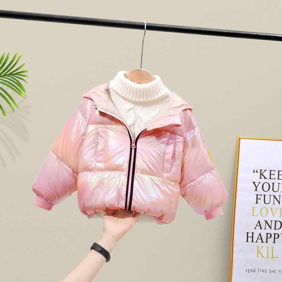 Goldene silber rosa Baby mädchen mäntel und jacken Herbst winter Kinder Warme Mit Kapuze Oberbekleidung Mantel kleinkind jungen jacke mädchen kleidung