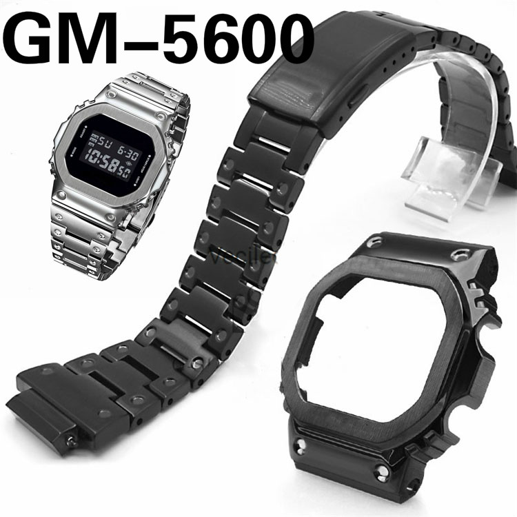 Newest GM-5600 Watch Band Strap Stainless Steel Watch Bezel ONLY 316L Stainless Steel Metal Watchbands Cover Tools Wholesale image
