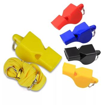 цена на 1pcs Whistle Football Basketball Sports Whistle with Lanyard Loud Sound Whistle Classic Referee Cheerleader Whistle Team Work