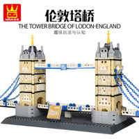 Wange 4219 World Famous Architecture Series London Tower Bridge Children'S Educational Toy Small Particles Building Blocks Toy
