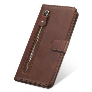 Image 4 - Para Motorola G9 Plus cremallera caso Motorola G9 G 9 jugar Retro de cuero caso de cartera para Moto G9 G Plus + cubierta
