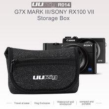 UURig R014 حقيبة كاميرا واقية حقيبة حمل حقيبة التخزين لسوني RX100 السابع كانون G7X مارك الثالث نقطة و اطلاق النار كاميرا الملحقات