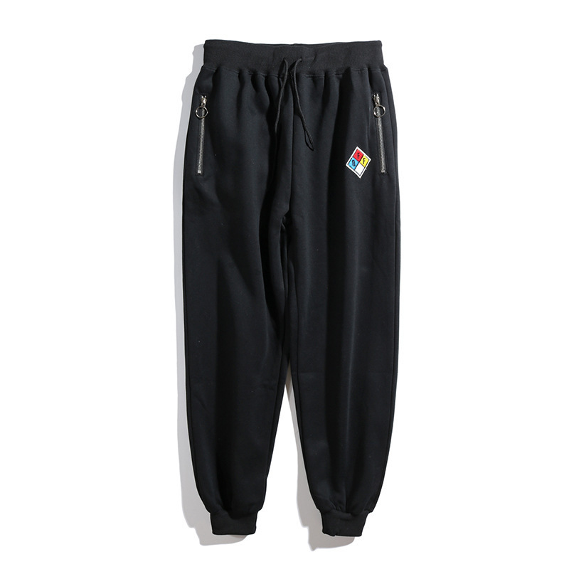 Popular Brand Off White Black Sports Long Pants Men And Women Ow Beam Leg Skinny Hip Hop Loose Casual Sweatpants