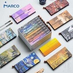 Conjunto de lápices de colores para dibujar, Marco MASTER COLLECTION, regalo de lujo, profesionales, de Arte Fino, aceite y cristal, 80 colores