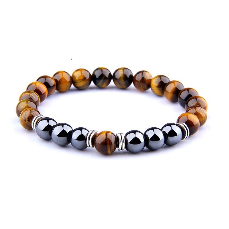 H21fda2fecbed4bb9a911bc2f33b8ee21m - Natural Tiger Eye Beads Bracelet For Women Health Care Hematite Stretch Bracelets Men charm Fashion Jewelry Pulsera Hombre gift (Tiger eye)