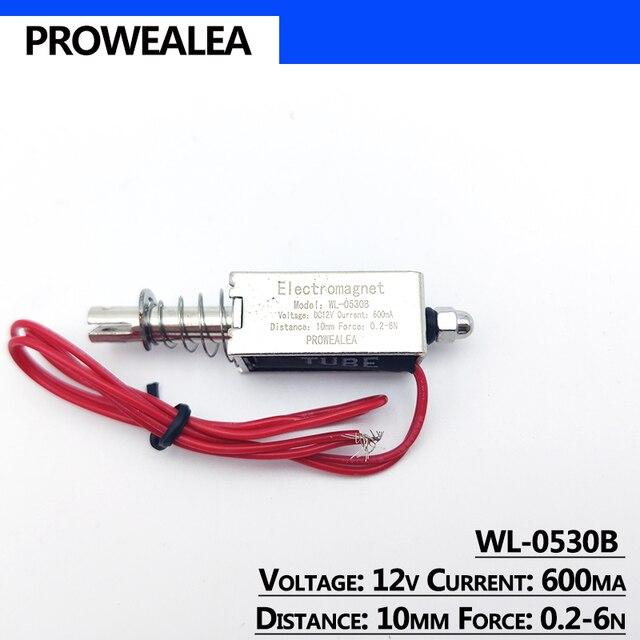 Фото электромагнит с нажимным вытяжением модель wl 0530b 5 в 6 в цена