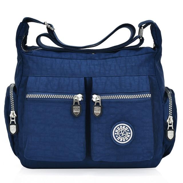 2020 New zipper nylon shoulder crossbody bags solid  versatile fashion crossbody  women messenger bag small size