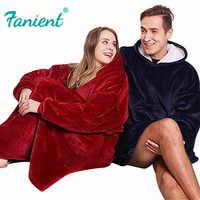 Winter Weihnachten Decke Sweatshirts Übergroße Pullover Riesigen Für Frauen Hoody Plaid Mit Hülse Sudadera Mujer Moletom Feminino