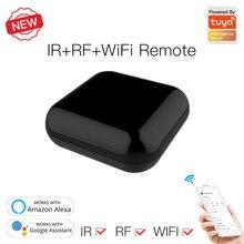 Novo wifi rf + ir universal controle remoto rf aparelhos tuya/vida inteligente app controle de voz trabalho com alexa google casa