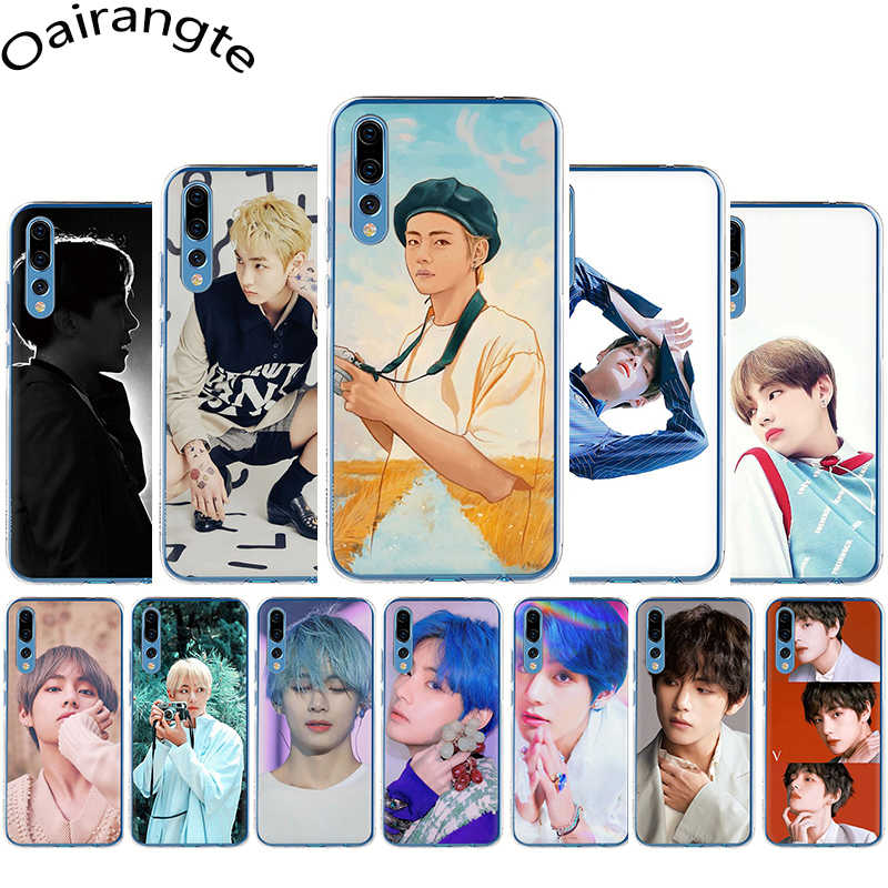 Kim V Taehyung Transparant Hard Telefoon Cover Case voor Huawei Honor 6A 7A 7X 7C 8X 8C 9X20 pro 8 9 10 Lite