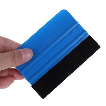 1pc Vinyl Wrap Film Card Squeegee Car Foil Wrapping Suede Felt Scraper Window Tint Tools Auto Car Styling Sticker Accessories image