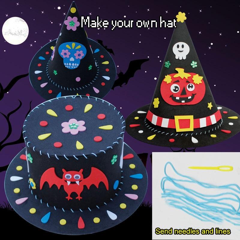 Halloween Hat Children's Handmade DIY Fun Hat Parent-child Game Kindergarten Handmade Class Essential Educational Toys