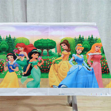 108cm*180cm princess Ariel/Snow White/Belle/Cinderella/Jasmine/Aurora Princess TableCloth Kid Birthday Party Supplies Decoration
