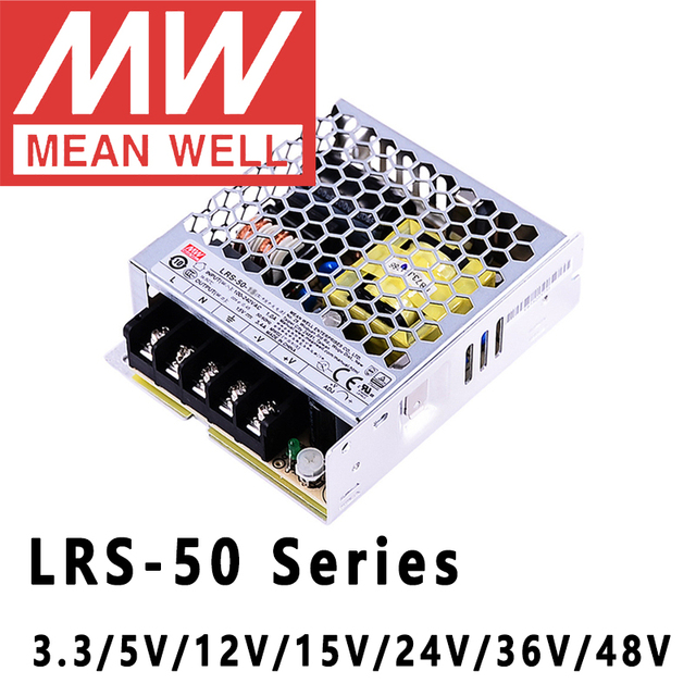 Mean Well LRS 50 Series 50W 3.3V 5V 12V 15V 24V 36V 48V meanwell Single Output Switching Power Supply