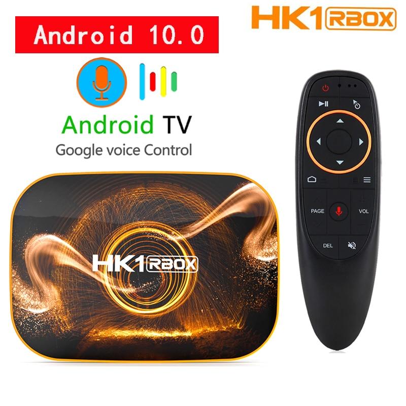 Приставка Смарт ТВ HK1 RBOX, Android 10,0, 4 + 64 ГБ, Wi Fi 2,4/5 ГГц ТВ-приставки и медиаплееры    АлиЭкспресс