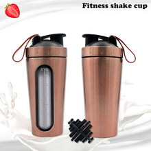 700 Ml Baru Olahraga Botol Air Stainless Steel Kebugaran Fashion Bubuk Protein Kocok Kreatif Portabel(China)
