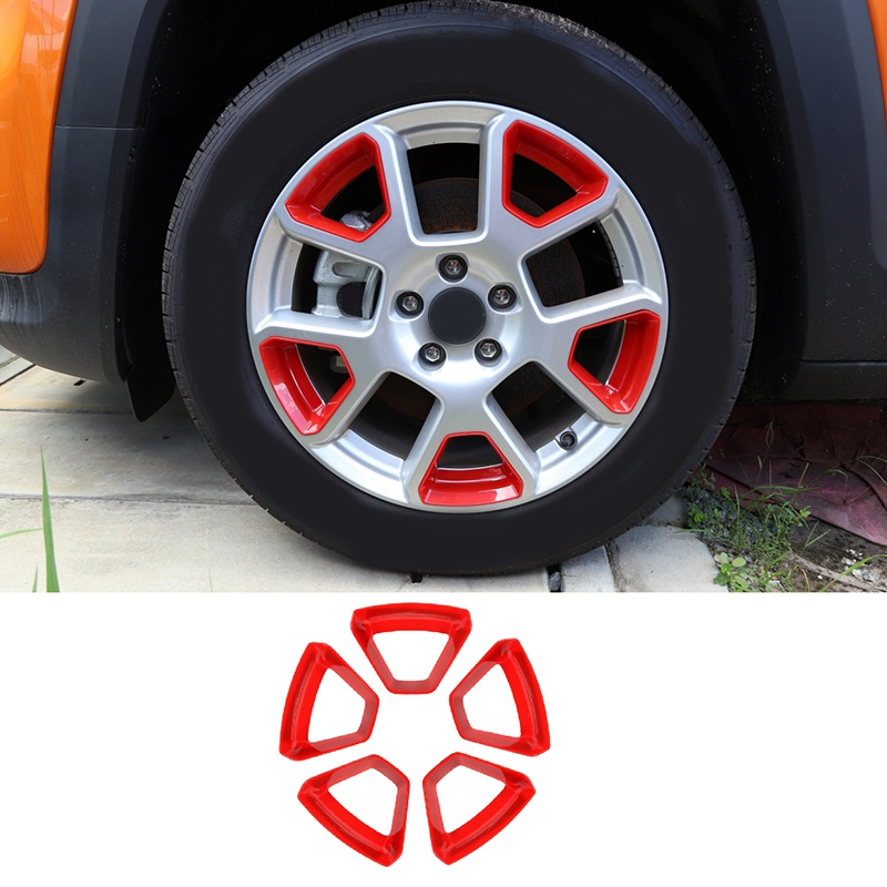 Car Wheel Hub Cover Decoration Frame Trim Stickers for Jeep Renegade 2019 2020