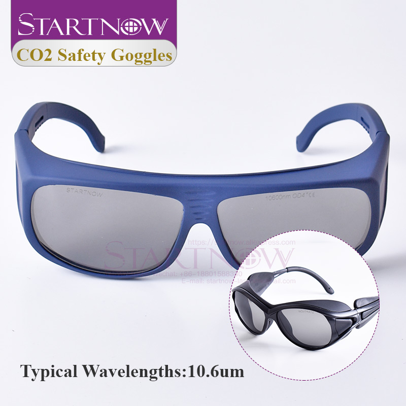 CO2 Laser Goggles OD4+ CE Certificate 10.6um Laser Safety Glasses Shield Protective Eyewear For 10.6 Laser Cutting Machine Parts