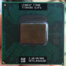 حاسوب محمول انتل كور 2 Duo T7800 CPU 4M كاش/2.6GHz/800/معالج حاسوب محمول ثنائي النواة يدعم 965