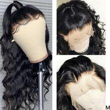 13x4 frente do laço perucas de cabelo humano pré arrancadas 150% onda do corpo brasileiro remy 360 peruca frontal do laço 4x4 fechamento do laço peruca