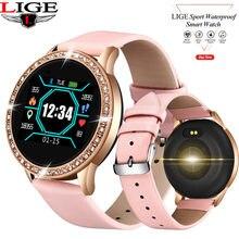 LIGE New Women Smart watch Full Screen Diamond Smartwatch Sport Waterproof Heart Rate Monitor Blood Pressure Fitness Tracker N58