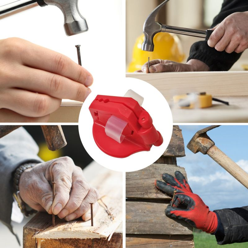 Practical Hand Protector Durable Magnetic Woodworking Tool Plastic Industrial Safety Nailer Mini Nail Holder