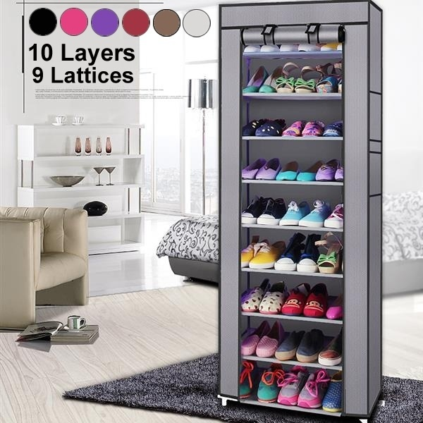Non-woven Fabric Shoe Rack 9 Layers Holder Cabinet Shoe Storage Rack Home Shoes Stands Organizer Shelf Fashionable Room-saving