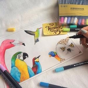 1 шт водяной Цвет маркеры Рисование Раскрашивание воды Цвет ing кисть двойной наконечник головка товары для рукоделия разные цвета Цвет