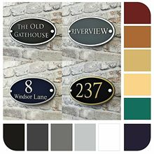 House number Details about Personalised House Address Plaque or number of signs contemporary oval name plates Door sign custom house number acrylic house sign with house number