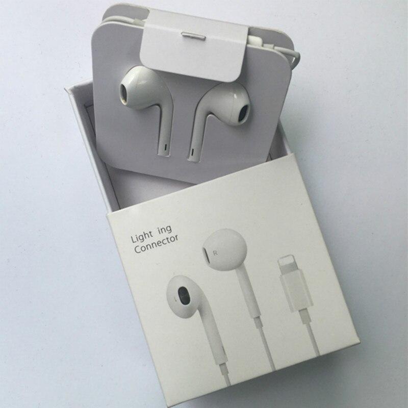 Наушники-вкладыши с микрофоном для iphone 7, стереонаушники с разъемом lightning, проводные Bluetooth наушники, гарнитура для IPhone 8, 7 Plus, X, XR, XS Max, 10