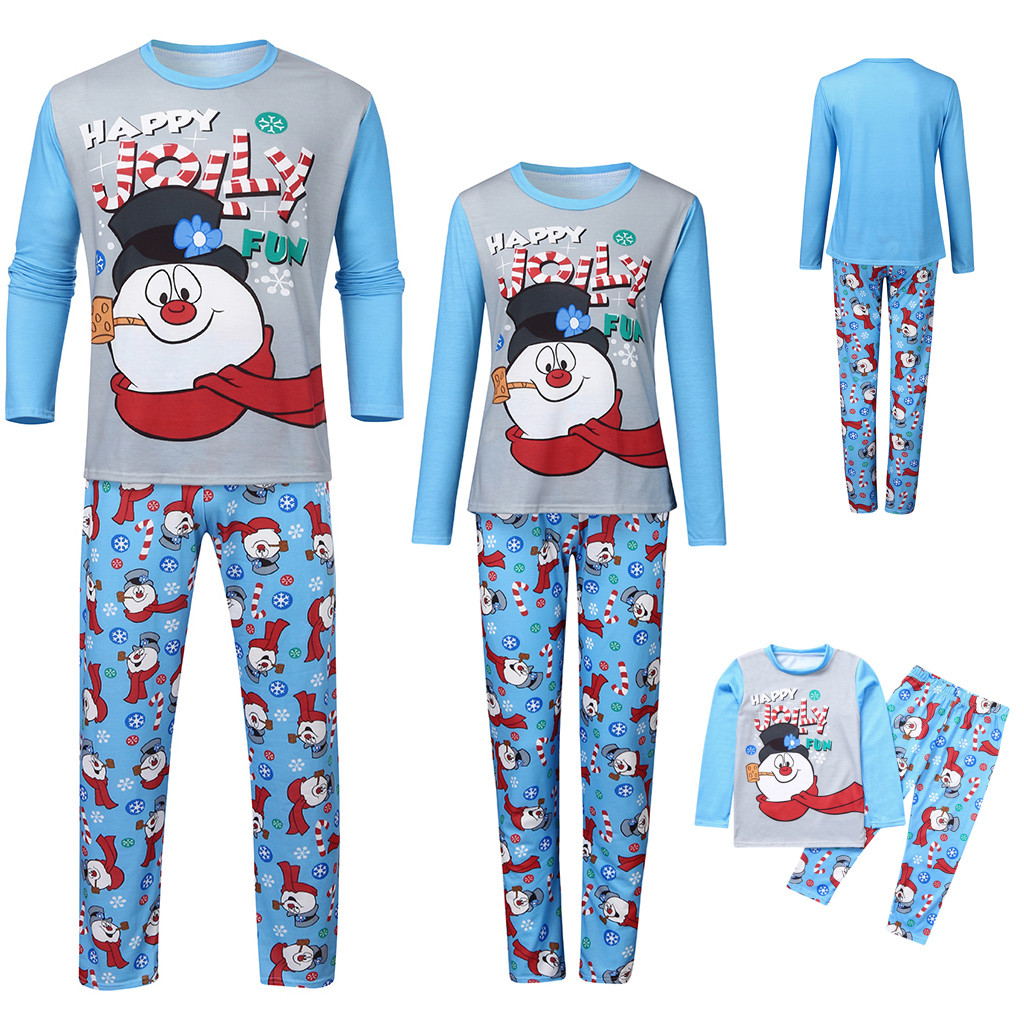 Christmas Family Pajamas Set  Mother Daughter Father Son Romper Printed Letter Top+Print Pants Xmas Clothes Free Shipping