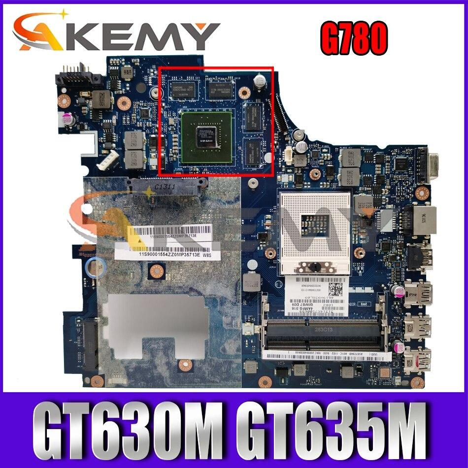 Akemy QIWG7 LA-7983P For Lenovo G780 Laptop Motherboard PGA989 HM77 DDR3 GPU GT630M GT635M 100% Test