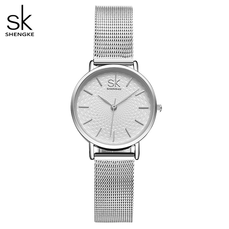 Shengke Luxury Women Watch Famous Golden Dial Fashion Design Bracelet Watches Ladies Women Wristwatches Relogio Femininos SK New