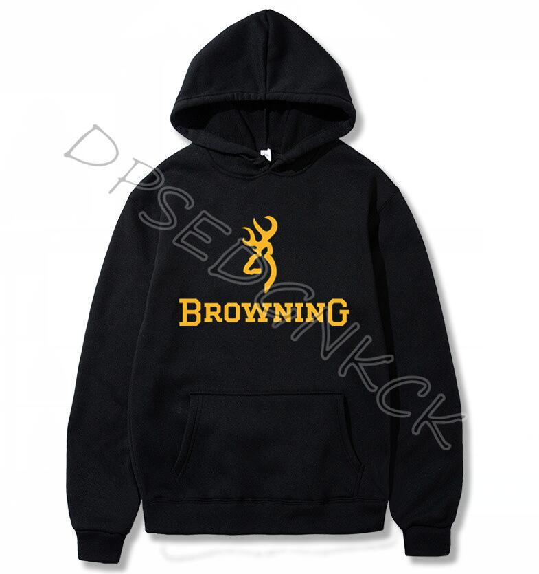Simple Pure Color Men Hoodies Fashion Browning Firearms Logo Graphic Printed Hoody Sweatshirts Men And Women Sweatshirt Top A220