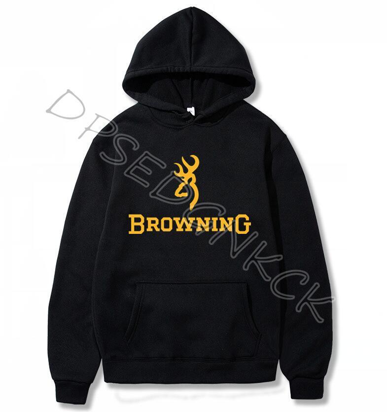Simple Pure Color Men Hoodies Fashion Browning Firearms Logo Graphic Printed Hoody Sweatshirts Men And Women Sweatshirt Top A220