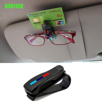 M Mperformance Mpower Car Glasses Bracket Visor Card Holder Sticker For BMW E34 E36 E60 E90 E46 E39 E70 F10 F20 F30 X5 X6 M3 M5 image
