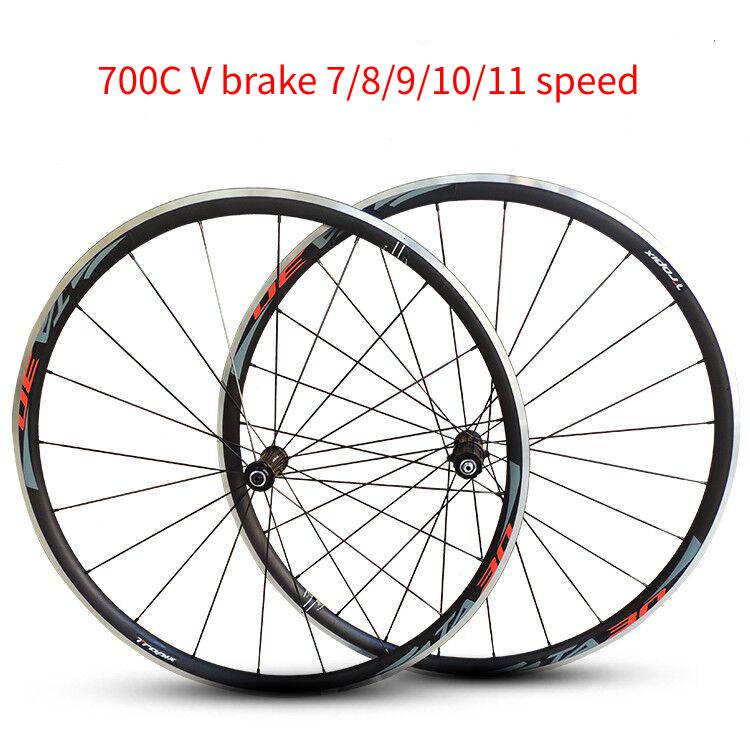 Letzte NEUE CNC 700C Legierung Räder Cosmic Road Fahrrad Bike Rad V Bremse Aluminium Laufradsatz Fahrrad Räder Felgen 7/ 8/9/10/11 geschwindigkeit